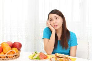 ビタミンB21不足で貧血気味の女性
